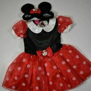 Disney Junior nwt Minnie Mouse Costume girls 12-18